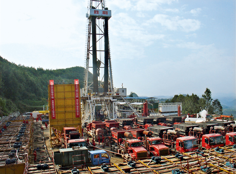 shale gas well china-sichuan